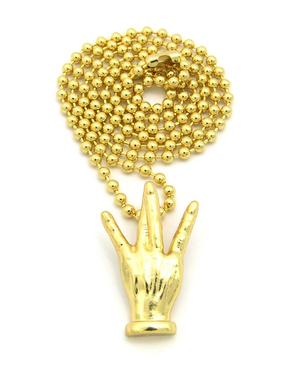 Westside Hand Sign Symbol Hip Hop Chain Necklace