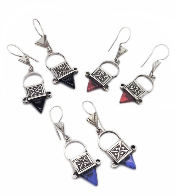 Three Colors of Mini Ingal Earrings