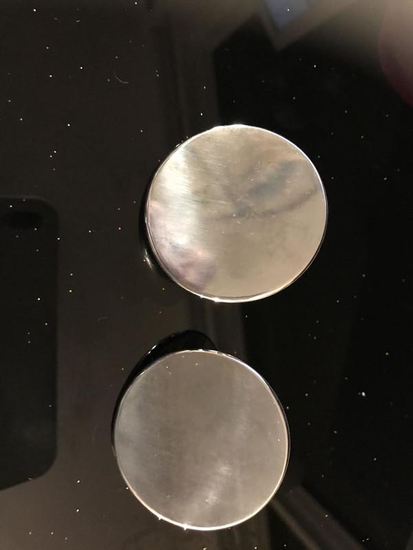 Designer Round Surgical Steel Plates (1 Pair)