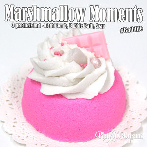 Marshmallow Moments Bath Bomb + Bubble Bath 110g