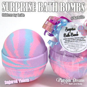 Surprise Bath Bomb - Toy inside - 170g - Pink-Purple-Blue