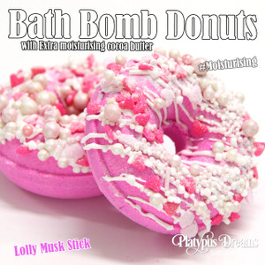 Lolly Musk Stick Bath Bomb Donut - 120g