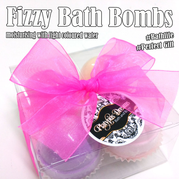 Fizzy Bath Bomb Gift Box 4 Pack - 300g