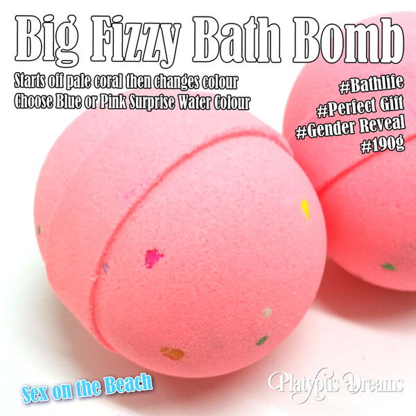 Gender Reveal Bath Bomb - Sex on the Beach 190g