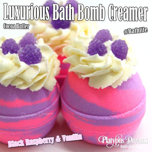 Black Raspberry & Vanilla - Bath Bomb Creamer 170g
