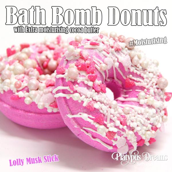 Lolly Musk Stick Bath Bomb Donut - 120g