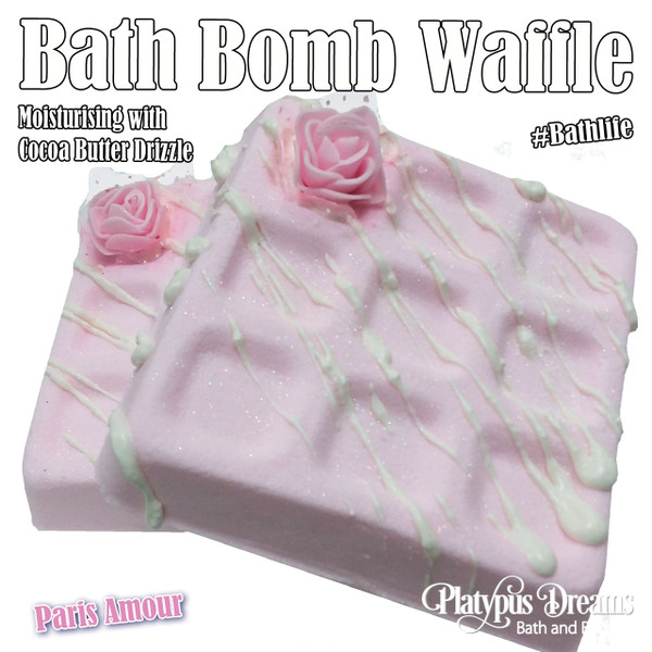 Paris Amour Bath Bomb Waffle 250g