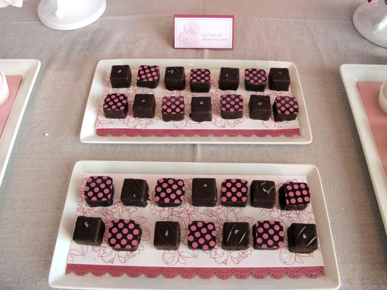 Pink Salt and Acai Pomegranate chocolate