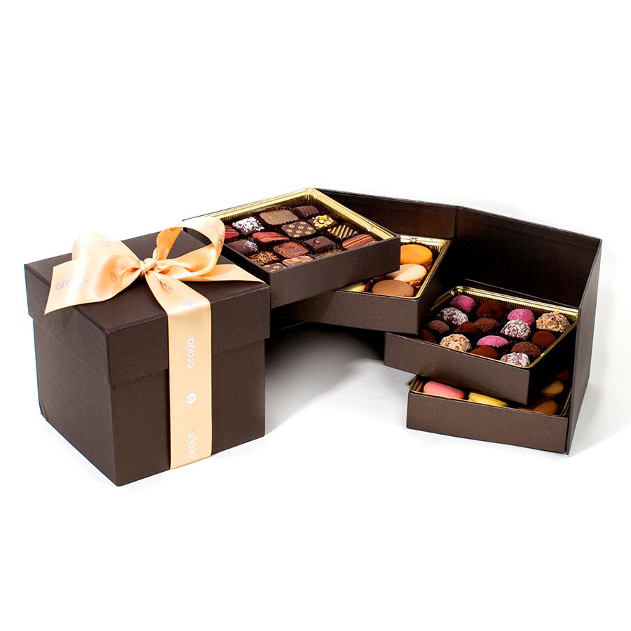 Araya artisan chocolate gourmet artisan chocolate luxury gift multilayer deluxe gift box negle Image collections
