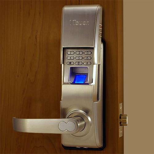 Our Best Fingerprint Door Lock Brushed Nickel with Scanner ... & Reversible Fingerprint Door Lock - The 1Touch evo3
