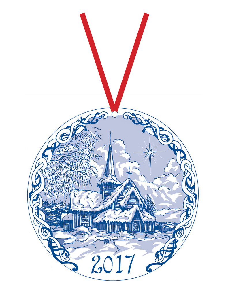 2017 Stav Church Ornament - Hedalen. Made by Norse Traditions and available at The Nordic Shop.