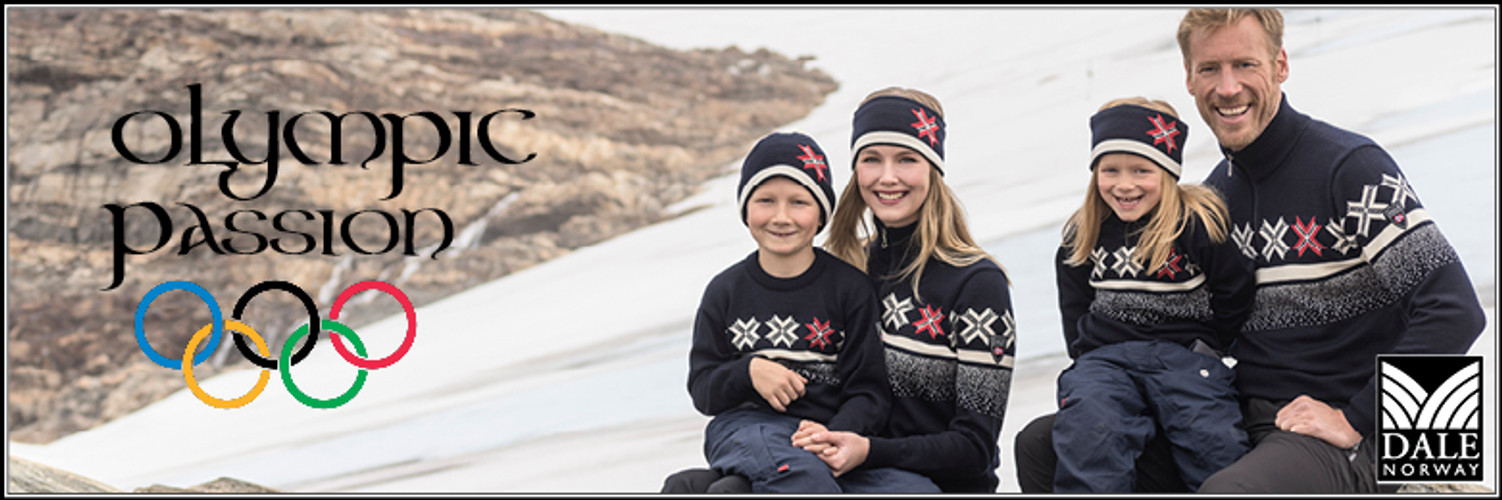 """Dale of Norway at the Olympics, Chapter 2 """"The 2018 Official Norwegian Olympic Team Sweater"""""""