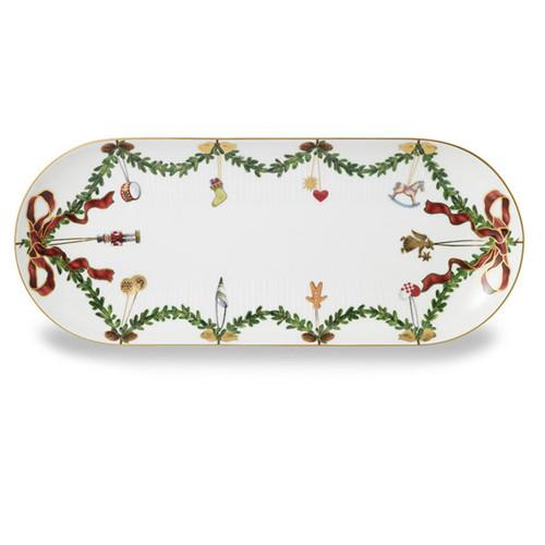 """Royal Copenhagen Star Fluted Christmas Oblong Platter, 16.5"""""""