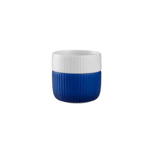 Royal Copenhagen Fluted Contrast Espresso Mug - Mega Blue