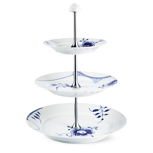 Royal Copenhagen Blue Fluted Mega - Etagere, 3 Layer, 13.75""
