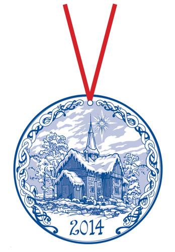 2014 Stav Church Ornament - Rollag