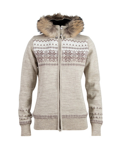Dale of Norway Floyen Windstopper Jacket, Ladies - Mountainstone/Sand/Firewood/Off White, 82841-P