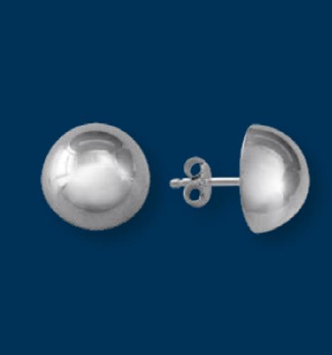 Danish Silversmiths Dome Earrings- Pierced