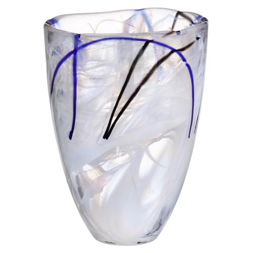 Kosta Boda Contrast White Vase