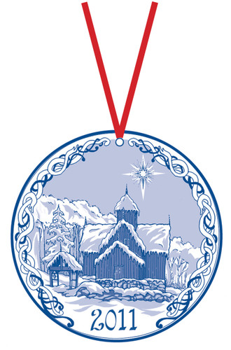 2011 Stav Church Ornament - Uvdal