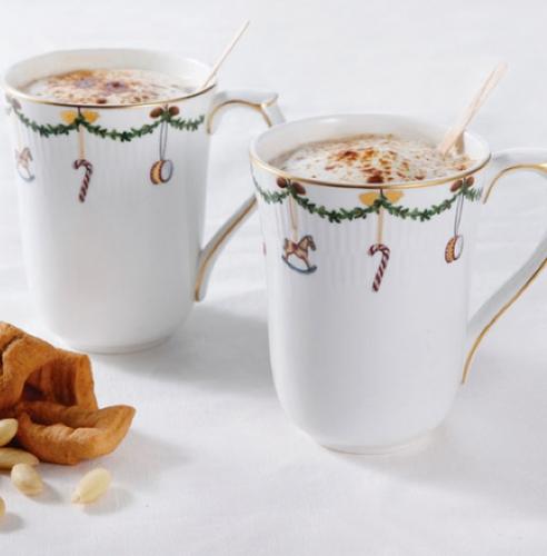 Royal Copenhagen Star Fluted Christmas Mugs- Set of Two