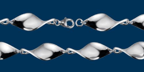 Danish Silversmiths Shiny Twist Bracelet