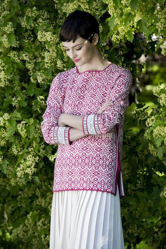 Hanne Oleana Medium Length Tonal Pullover, 326A Pink