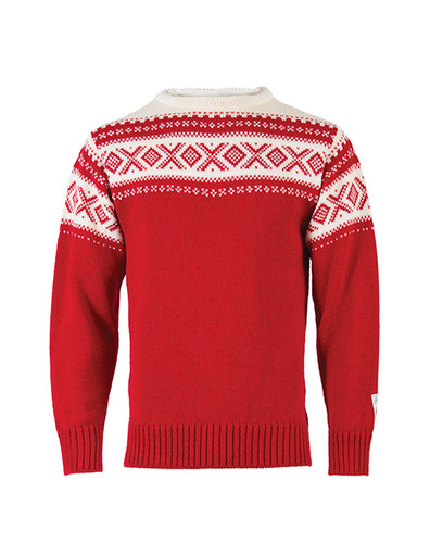 Dale of Norway, Cortina sweater, unisex, in Raspberry/Off White, 92521-B