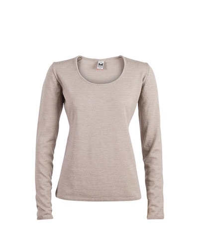 Dale of Norway Astrid Sweater, Ladies - Beige Mel, 92432-P