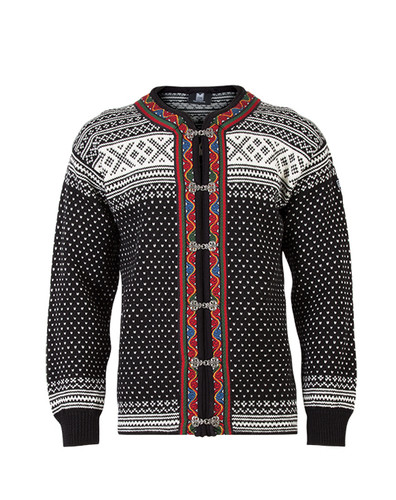 Dale of Norway Setesdal Cardigan - Black/Off White, 80381-F