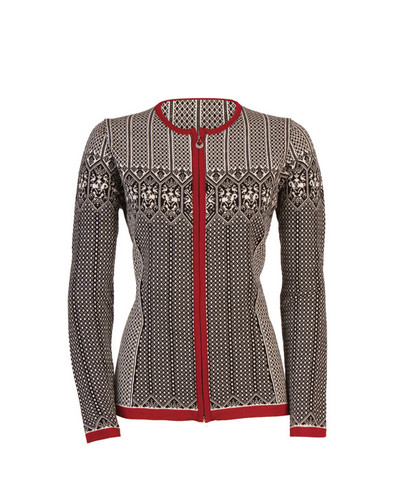 Dale of Norway Sigrid Cardigan, Ladies - Black/Off White/Red Rose, 82071-F