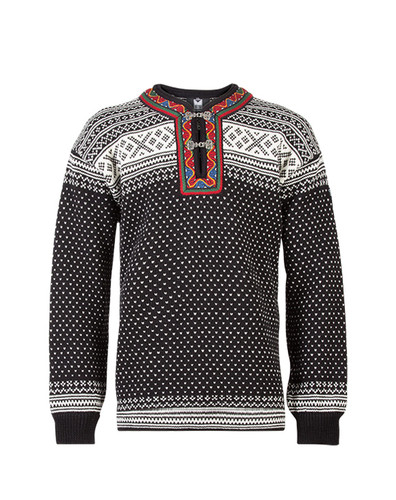 Dale of Norway Setesdal Pullover - Black/Off White, 90381-F