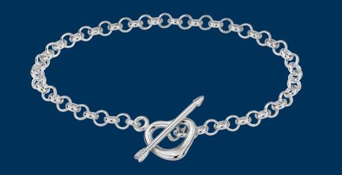Danish Silversmiths Heart and Arrow Toggle Bracelet