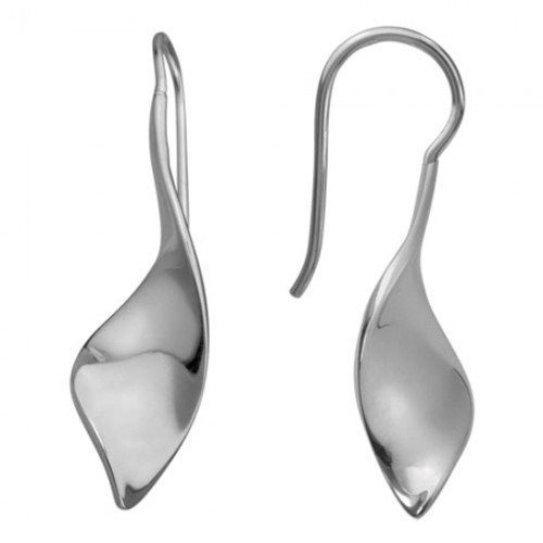 Danish Silversmiths Shiny Twist Earrings