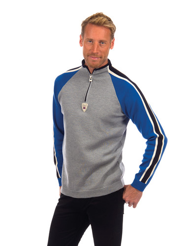 Dale of Norway Besseggen Pullover, Mens - Grey Mel/Cobalt/Off White/Navy, 92901-H