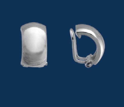 Danish Silversmiths Dome Half Hoop Earrings- Clip