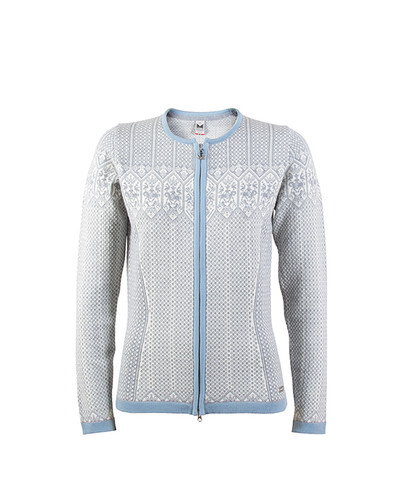 Dale of Norway Sigrid Cardigan, Ladies - Grey Mel/Off White/Ice Blue, 82071-E