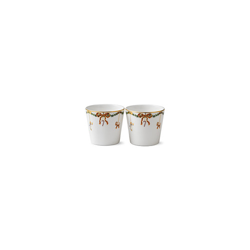 Royal Copenhagen Star Fluted Christmas Serving Cups - Set of 2