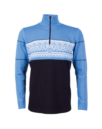 Dale of Norway Rondane Pullover, Mens - Navy/White Mel/Sky Blue,  92691-H