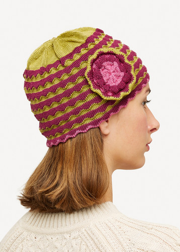Vera Oleana Hat with Flower,135K Cerise