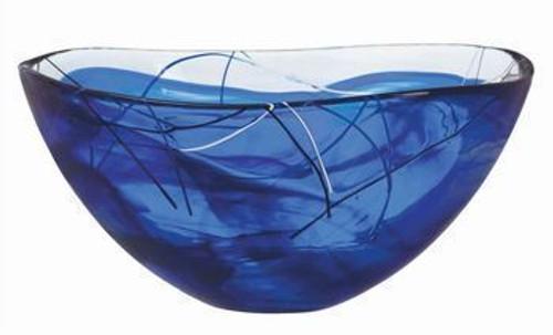 Kosta Boda Contrast Blue Bowl- Large
