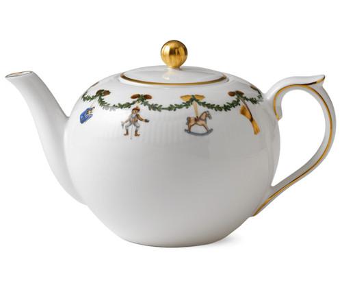 Royal Copenhagen Star Fluted Christmas 1.5 quart Tea Pot