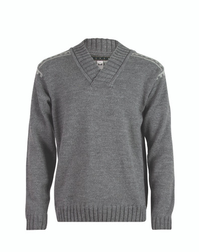 Dale of Norway Alpina V-Neck Pullover, Mens - Smoke/Light Charcoal, 92541-E