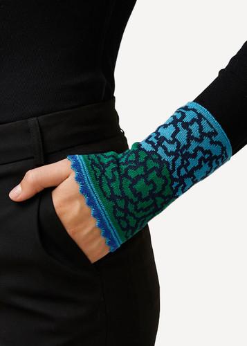Ella Oleana Patterned Wristlet, 320G Blue and Green