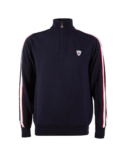 Dale of Norway Flagg Summer Windstopper Sweater, Mens - Navy/Raspberry/Off White, 92961-C
