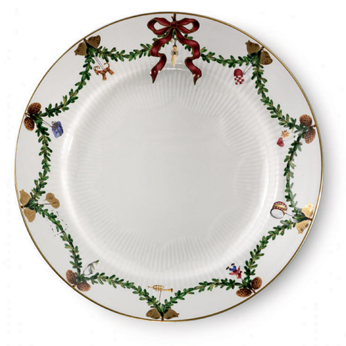 "Royal Copenhagen Star Fluted Christmas Dessert/Salad Plate 7.5"""