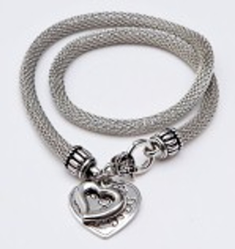 Danish Silversmiths Heart Necklace