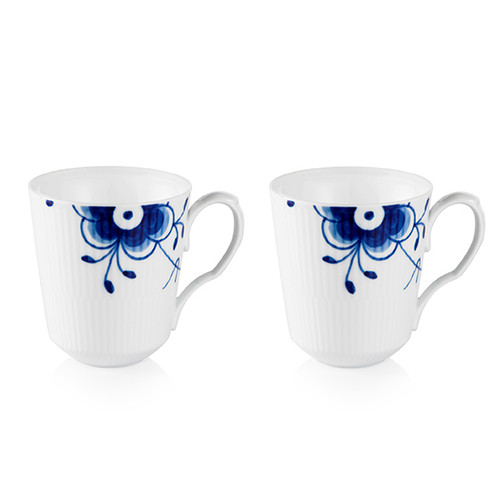 Royal Copenhagen Blue Fluted Mega - Mug - Set of 2 - 12.25 oz