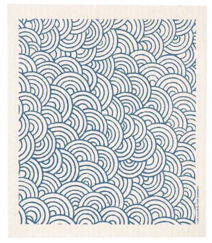 Swedish Dishcloth - Circles, Blue