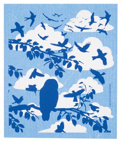 Swedish Dishcloth - Clouds & Birds